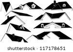 roof set isolated on white | Shutterstock .eps vector #117178651