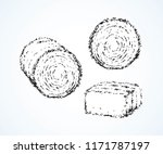 rolled haycock for livestock...   Shutterstock .eps vector #1171787197