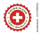 swiss made 100 percent original ... | Shutterstock .eps vector #1171789201