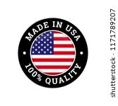 made in usa 100 percent... | Shutterstock .eps vector #1171789207