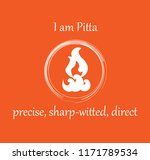 ayurvedic dosha pitta symbol... | Shutterstock .eps vector #1171789534