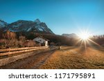 early winter landscape with... | Shutterstock . vector #1171795891