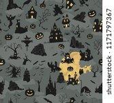 halloween holiday seamless... | Shutterstock .eps vector #1171797367