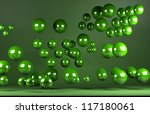 colored balls front view of a... | Shutterstock . vector #117180061