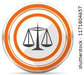 justice silver metallic chrome... | Shutterstock . vector #1171804657