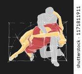 ballroom dancing. tango.... | Shutterstock .eps vector #1171811911