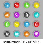 birds colored plastic round... | Shutterstock .eps vector #1171815814
