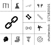strength icon. collection of 13 ... | Shutterstock .eps vector #1171820101