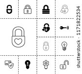 padlock icon. collection of 13... | Shutterstock .eps vector #1171822534