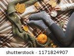women's hands and feet in... | Shutterstock . vector #1171824907
