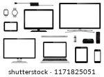 set of realistic tv  computer... | Shutterstock .eps vector #1171825051