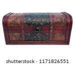 brown wood chest isolated... | Shutterstock . vector #1171826551