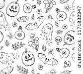 halloween seamless pattern.... | Shutterstock .eps vector #1171832347