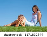 happy mother with the son... | Shutterstock . vector #1171832944