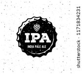 ipa or india pale ale badge or... | Shutterstock .eps vector #1171834231