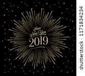 happy new year card with... | Shutterstock .eps vector #1171834234