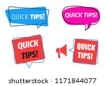 quick tips badge with light... | Shutterstock .eps vector #1171844077