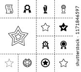 best icon. collection of 13... | Shutterstock .eps vector #1171846597