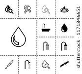 droplet icon. collection of 13... | Shutterstock .eps vector #1171846651