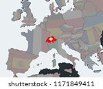 switzerland on political globe... | Shutterstock . vector #1171849411