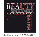 slogan beauty extra time for t... | Shutterstock .eps vector #1171849831