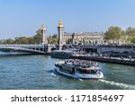 paris  france   april 8  2017 ... | Shutterstock . vector #1171854697