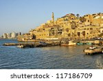old jaffa port and tel aviv | Shutterstock . vector #117186709