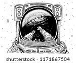 astronaut spaceman soaring....   Shutterstock .eps vector #1171867504