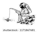 astronaut spaceman with a... | Shutterstock .eps vector #1171867681