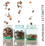 Savings Rate Concept   Jars In...