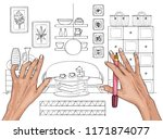 creation of interior and... | Shutterstock .eps vector #1171874077