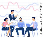 flat design business process... | Shutterstock .eps vector #1171875031