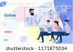 flat design online  education... | Shutterstock .eps vector #1171875034