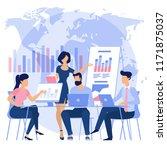flat design business process... | Shutterstock .eps vector #1171875037