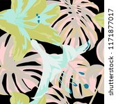 tropical print. jungle seamless ... | Shutterstock .eps vector #1171877017