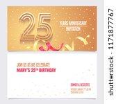 25 years anniversary invitation ... | Shutterstock .eps vector #1171877767