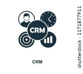 crm icon. monochrome style...