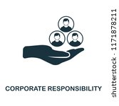 corporate responsibility icon....   Shutterstock .eps vector #1171878211