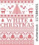 christmas pattern white... | Shutterstock .eps vector #1171884331