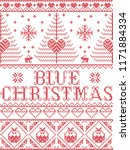 christmas pattern blue... | Shutterstock .eps vector #1171884334
