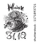 halloween poster. illustration... | Shutterstock .eps vector #1171893721