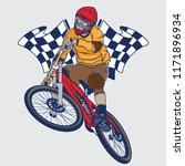 downhill mountain bike... | Shutterstock .eps vector #1171896934