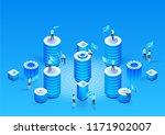 concept of data network... | Shutterstock .eps vector #1171902007