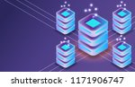 server isometric 3d connection... | Shutterstock .eps vector #1171906747