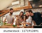 shot of a group of friends... | Shutterstock . vector #1171912891