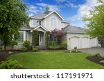 large classic american house... | Shutterstock . vector #117191971