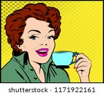 beautiful wow pop art female...   Shutterstock .eps vector #1171922161
