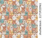 seamless pattern of hand drawn... | Shutterstock .eps vector #1171923961