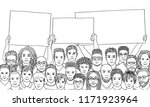 diverse group of men holding...   Shutterstock .eps vector #1171923964