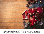 little wooden house and... | Shutterstock . vector #1171925281